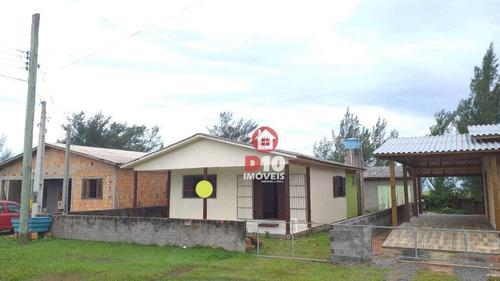Casa À Venda Com 2 Dormitórios Em Balneário Arroio Do Silva No Guaraca-sc,de Frente Ao Mercado Bristot. - Ca2121