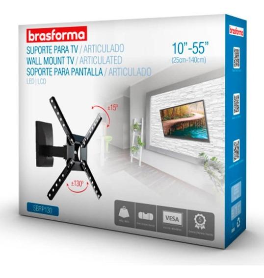 Suporte Tv Universal Bi-articulável 10 - 55 Sbrp130 - Bra
