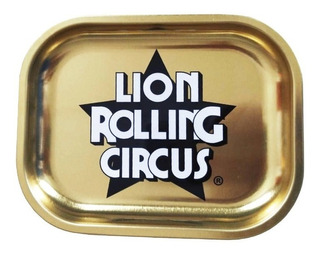 Bandeja Lion Rolling Circus Gold Metalica Mini Dorada Grow