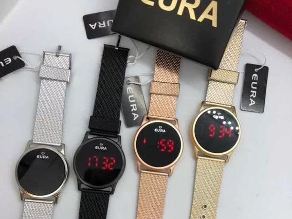 50 Relógios Led Touch Screen Originais Eura Atacado Revenda