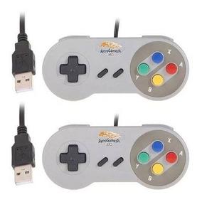 2 Controles Super Nintendo Snes Usb Rapberry Notal Fiscal