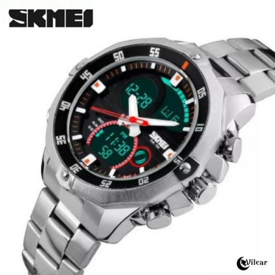 Relógio Masculino Skmei 1146 Pulseira Aço Inox Promoção!!!
