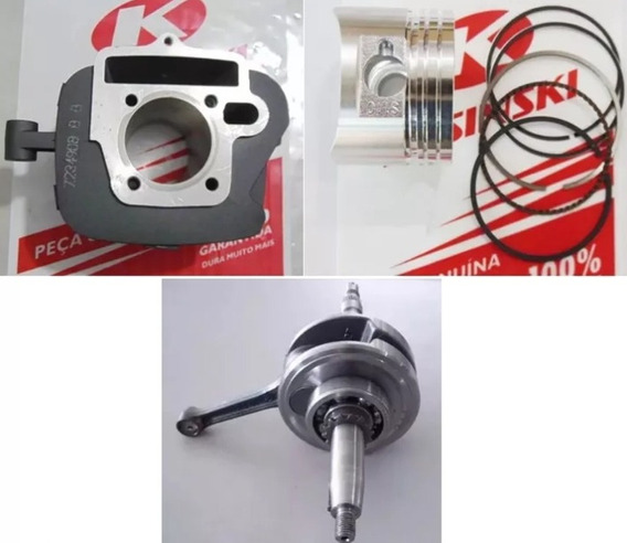 Virabrequim+cilindro+pistão+anéis Kasinski Win 2010 Novo