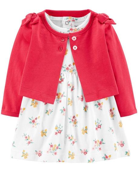 Vestidos Carters Con Cardigan Para Niña Bebe Nuevos Original