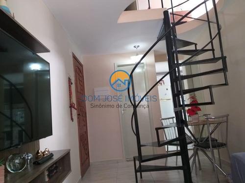 Cobertura Duplex Para Venda Em São Paulo, Parque Santo Antonio, 2 Dormitórios, 2 Banheiros, 1 Vaga - Ap111_2-1074555