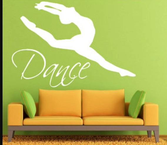 Adesivo Parede Dance Dança Balé Ballet 80x115 Cm