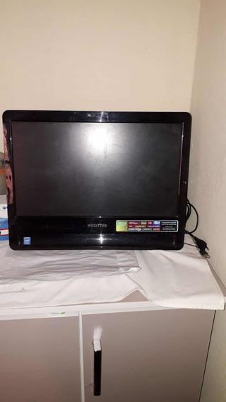 Computador Cpu Embutido E Televisão