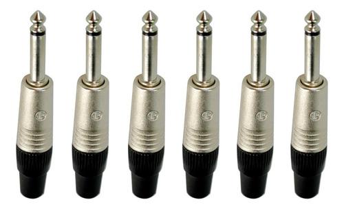 Kit 6 Plug P10 Mono Np2c Neutrik