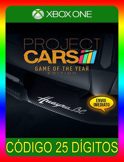 Project Cars Game Of Year Xbox - 25 Dígitos (envio Já)