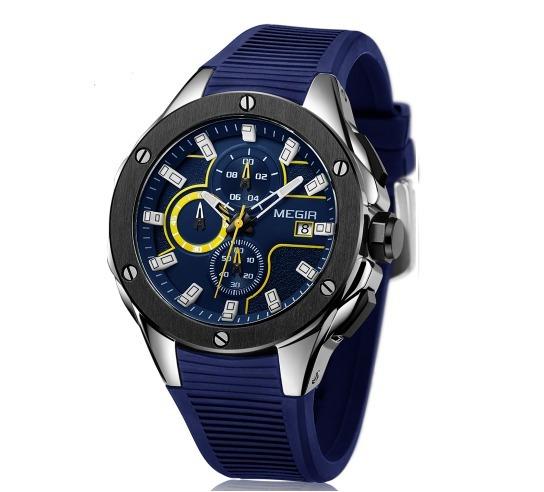 Relógio Masculino De Pulso Megir - Hjtg74m8w