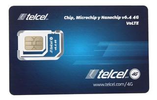 20 Chips Telcel 4g Region 7 Gro, Ver. Pue. Oax. Economico