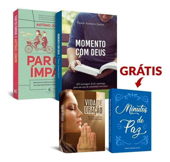 Kit 4 Livros Evangélicos (1 Grátis) - Pastor Antonio Junior