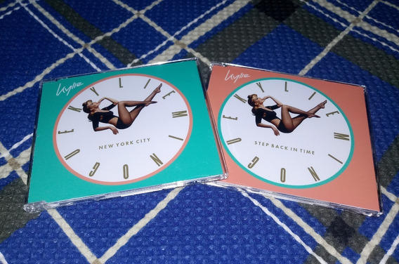 Kit 2 Cds Singles Kylie Minogue - Step Time + New York City
