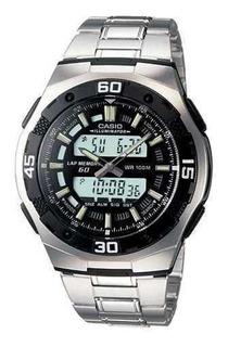 Reloj Casio Aq-164wd Hombre 60 Lap 3 Al 100m Sumergible