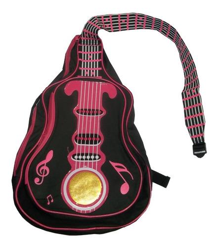 Mochila De Espalda Forma De Guitarra 40x30 Original