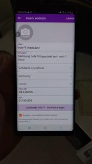 Samsung Note 9 128 Gb Zero Sem Nem 1 Risco