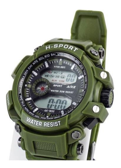 Relógio Do Bolsonaro H-sport Ak-1832 Mito Lançamento P Dágua