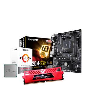 Kit Amd Athlon 200ge + Gigabyte A320m + 8gb Ddr4 2666 Gamer