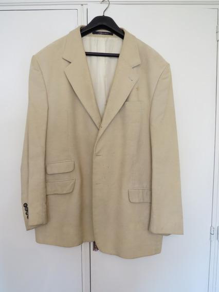 Saco - Blazer Pana Marca Giesso Color Manteca T57 Detalles