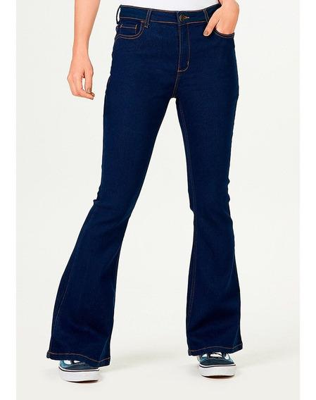 Calça Jeans Feminina Flare Petit Detalhe De Costura Hering