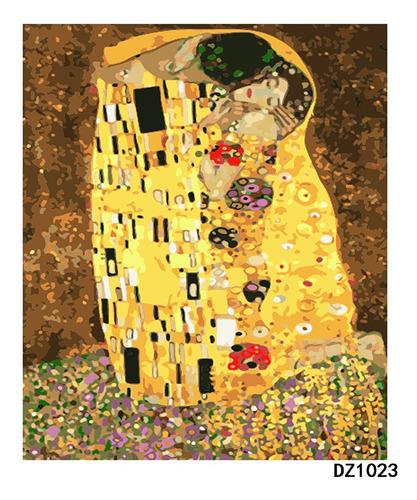 Pintura Numerada O Beijo - Gustav Klimt_p2