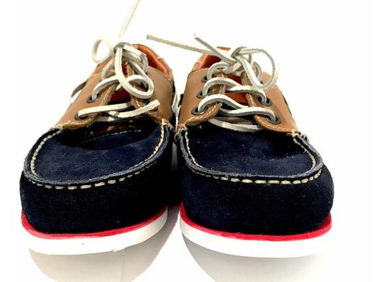 Zapatos Nauticos Finetto Hecho Mexico Piel Mocasin Probador