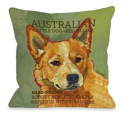 Una Bella Casa Ganado Australiano 2 Almohada Para Perros