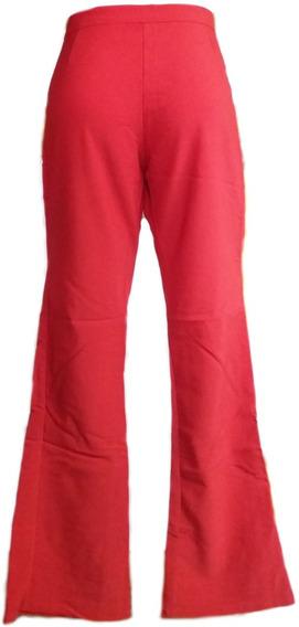 Pantalón Dama Casual Tela Vengalina Rojo