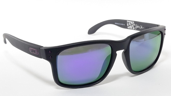 Óculos De Sol Oakley Holbrook Preto Lentes Roxa Polarizada