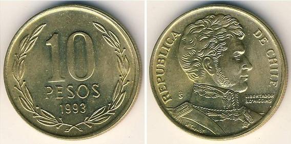Chile Monedas De 10 Pesos Años 1993-1999 Y 2003 C/u