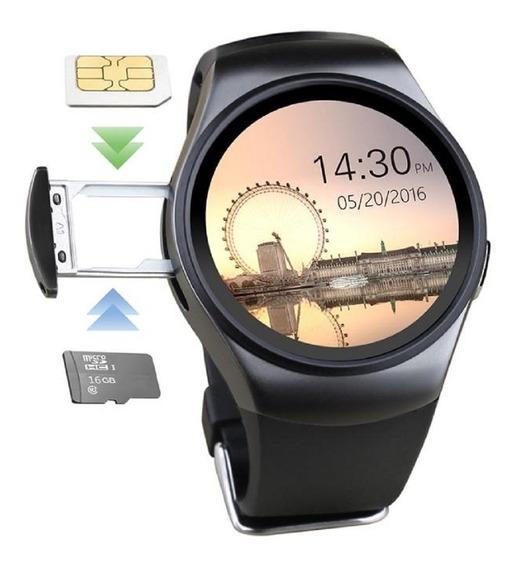 Reloj Celular Kw18 Smartwatch 3g Medidor Cardiaco Sim