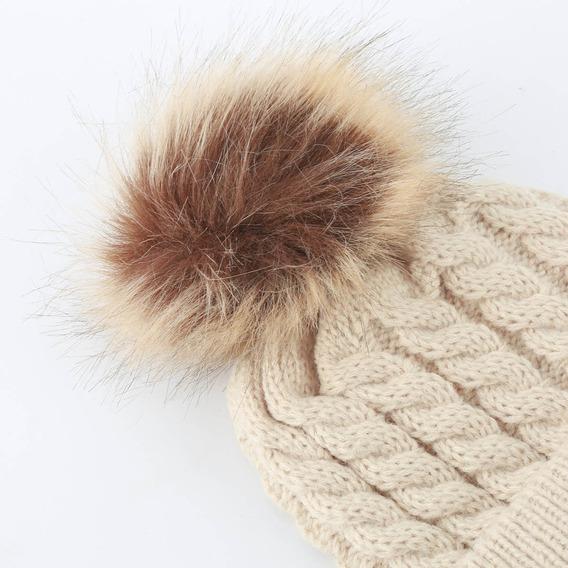 1 Touca Gorro Capuz De Lã Para Bebe C/pompom