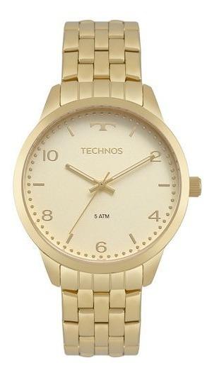 Relógio Feminino Technos Dourado - Nf E Garantia