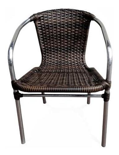 Imagem 1 de 3 de Cadeira Em Alumínio E Fibra Sintética Empilhável