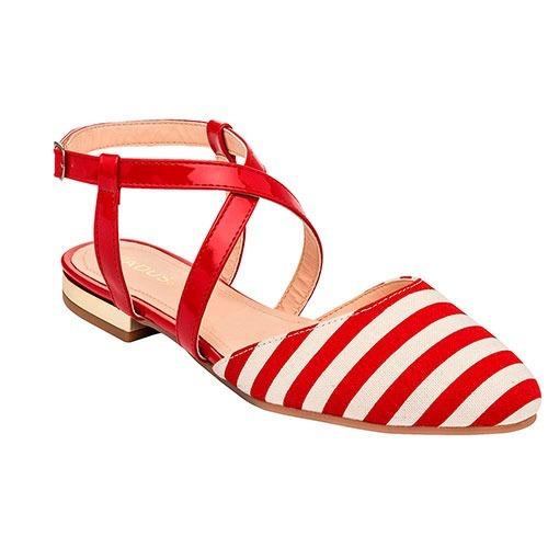 Zapato De Piso Dama Padus Sat058 Rojo 22-26 84612 T3