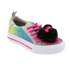 Tenis Minnie Mouse Arcoiris Para Niñas Disney Sneaker Sintas