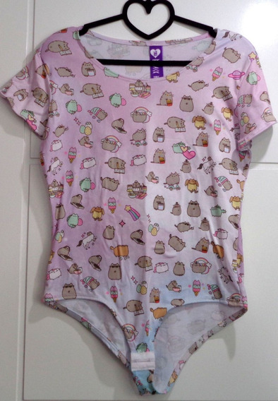 Pusheen The Cat Body Blusa De Manga Corta Gatita Sweets