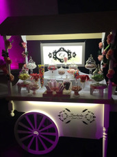 Carro Para Candy Bar, Alquiler Para Eventos, Con Luces Led