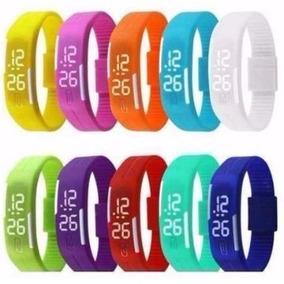 Kit 10 Relógios Led Nike Masculino E Feminino