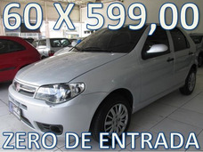 Fiat Palio Flex Completo Zero De Entrada + 60 X 599,00 Fixas