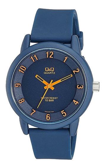 Relógio Q&q Analógico Azul Vr52j002y