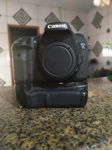 Câmera Canon 7d + Grip Mk7d + 16gb (leia A Descrição)