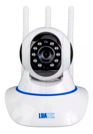Kit 2 Câmeras Ip Com Visão Noturna Hd Wifi 3 Antenas Monitorar Sua Casa Ou Comércio Pelo Celular Com Selo Anatel Luatek