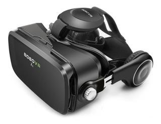 Óculos Virtual Bobo Vr Z4 C/ Fones Cor Preto + Controle Rem.