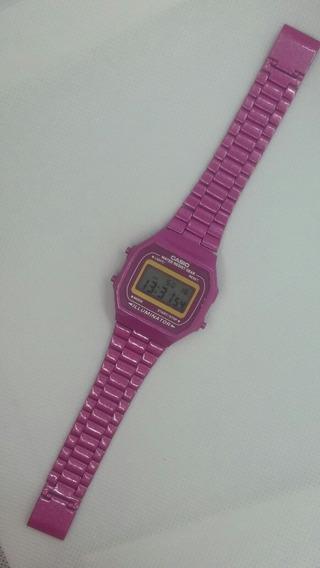 Relógio Feminino Casio Vintage Retrô Rosa