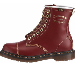 Niños Original Botas Dr Martens Capper 7inch Rojo Vintage