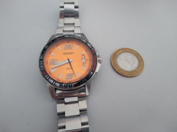 Relógio Orient Fundo Laranja