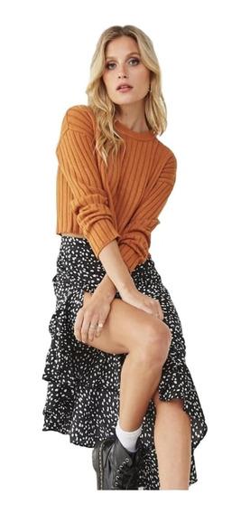 Sweater Corto Modelo Canelón - Jazmín* Chuva Ropa