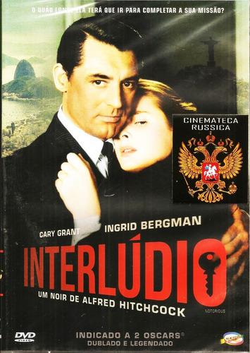 Dvd Interlúdio, Hitchcock, Ingrid Bergman Cary Grant 1946 +