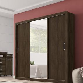 Guarda Roupa Casal Com Espelho 3 Portas Residence Ec